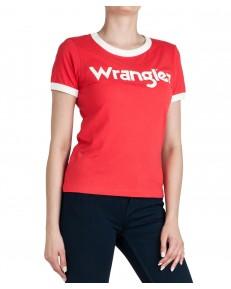 Wrangler RINGER TEE W7Z3 Bittersweet Red