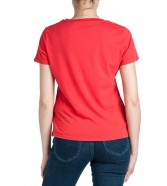 Wrangler GRAPHIC TEE W7Z4 Bittersweet Red