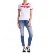 T-shirt Wrangler RINGER TEE W7Z6 Flame Red