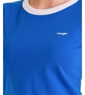 Wrangler RINGER TEE W7Z6 Strong Blue