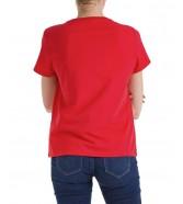 T-shirt Wrangler SS RAINBOW TEE W7ZB Flame Red