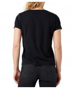 T-shirt Wrangler SS RAINBOW TEE W7ZD Black