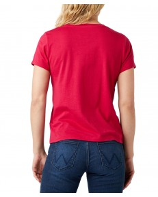 T-shirt Wrangler SS RAINBOW TEE W7ZD Cerise