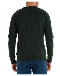 Sweter Wrangler CREWNECK KNIT W8A02 Deep Forest