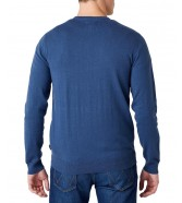 Sweter Wrangler CREWNECK KNIT W8A02 Dark Denim