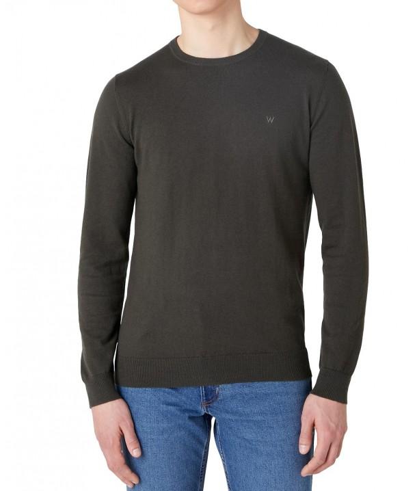 Sweter Wrangler CREWNECK KNIT W8A02 Rosin Green
