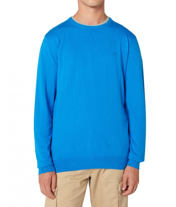 Wrangler CREW KNIT W8A0P Directoire Blue W8A0PDXKL