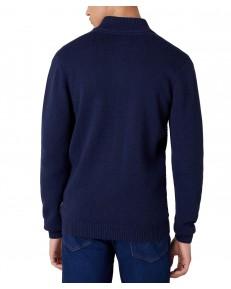 Sweter Wrangler FULL ZIP KNIT W8B5Q Navy