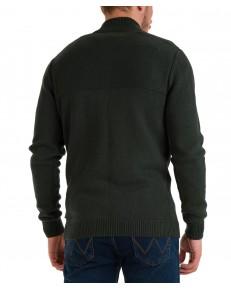 Sweter Wrangler FULL ZIP KNIT W8B5Q Deep Forest