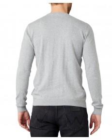 Sweter Wrangler CREW KNIT W8M0 Mid Grey Mel