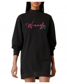 Wrangler HIGH NECK SWEAT DRESS W9P2 Black
