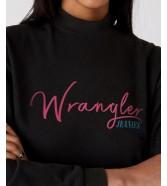 Sukienka Wrangler HIGH NECK SWEAT DRESS W9P2 Black